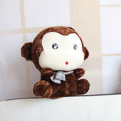 Cute 30cm Monkey Plush Doll with Hat Stuffed Toy Kids Gift