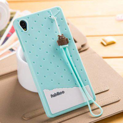 Fabitoo Lanyard Design Silicone Back Cover Case for Sony Xperia Z3 L55T