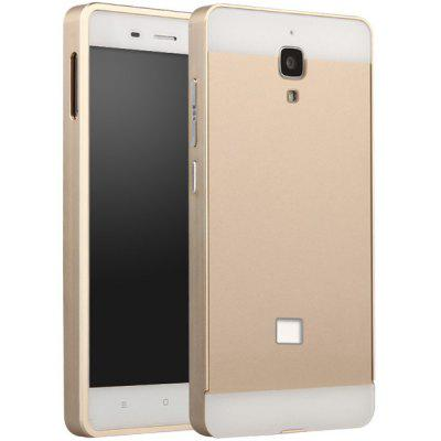 Buy GOLDEN Fabitoo Frame Style Aluminium Alloy Bumper with PC Back Case for Xiaomi 4 for $8.84 in GearBest store