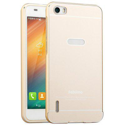 Buy GOLDEN Fabitoo Frame Style Aluminium Alloy Bumper with PC Back Case for Huawei Honor 6 for $7.46 in GearBest store