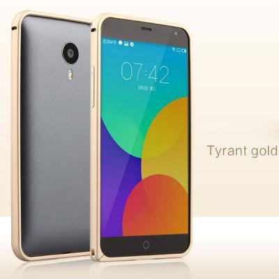Buy GOLDEN Fabitoo Stylish Frame Style Aluminium Alloy Bumper Case for Meizu MX4 for $7.46 in GearBest store