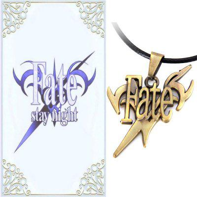 48cm Necklace with Fate / Stay Night SignKey Chains<br>48cm Necklace with Fate / Stay Night Sign<br><br>Material: Metal<br>Package Contents: 1 x Necklace<br>Package size (L x W x H): 17.50 x 7.70 x 2.50 cm / 6.89 x 3.03 x 0.98 inches<br>Package weight: 0.0500 kg<br>Product weight: 0.0170 kg<br>Type: Cosplay Toy
