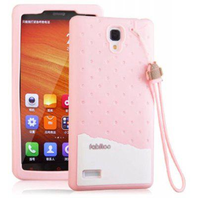 Fabitoo Lanyard Design Silicone Back Cover Case for Redmi Note