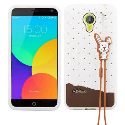 Fabitoo Lanyard Design Silicone Back Cover Case for Meizu m1 note