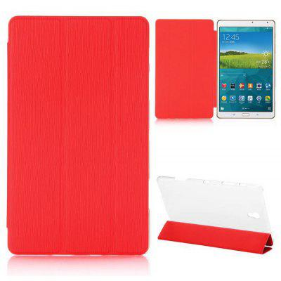 Toothpick Pattern Tri - foldable Flip Case for Samsung Galaxy Tab S 8.4 T700 T705