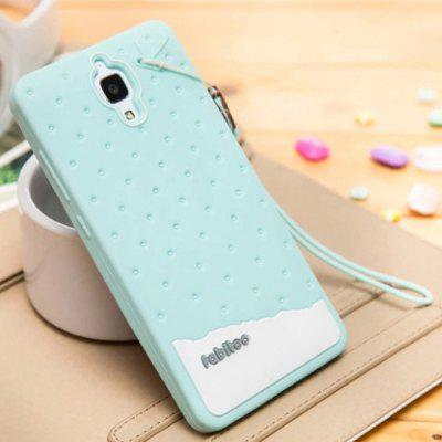 Fabitoo Lanyard Design Silicone Back Cover Case for Xiaomi 4