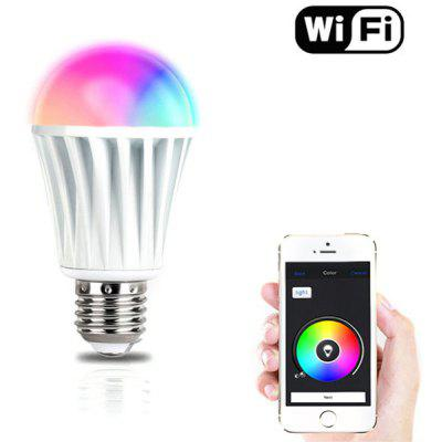 E27 7W RGBW Wireless WiFi Timing LED Bulb for Smart Phone Control  - 110  -  240V
