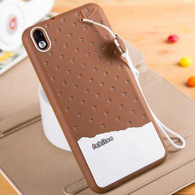 Fabitoo Lanyard Design Silicone Back Cover Case for HTC Desire 816