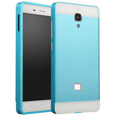 Buy BLUE Fabitoo Frame Style Aluminium Alloy Bumper with PC Back Case for Xiaomi 4 for $8.84 in GearBest store
