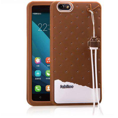 Fabitoo Lanyard Design Silicone Back Cover Case for Huawei Honor 4X