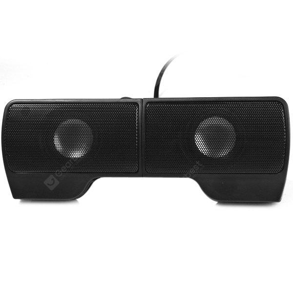 Clip USB Powered Music Digital Speaker Sound Stereo with Volume Control for PC Laptop