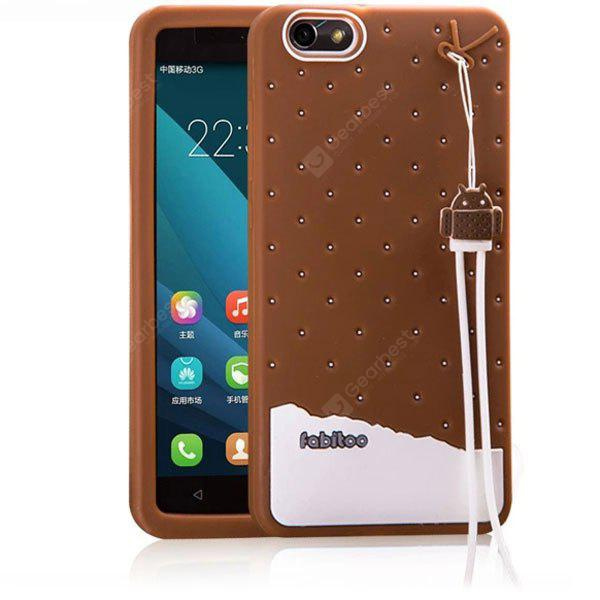 detailed look 9f0ca 8413b Fabitoo Lanyard Design Silicone Back Cover Case for Huawei Honor 4X