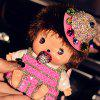 Cartoon MONCHHICHI Style 8000mAh Portable Mobile Power Bank with Diamond Lanyard for iPhone 6 / 6 Plus Samsung Galaxy - DEEP PINK