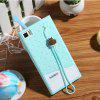 Fabitoo Lanyard Design Silicone Back Cover Case for Xiaomi 3 - GREEN