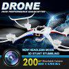NIHUI TOYS U807 Magnetic Compass Headless Mode 2.4GHz RC Quadcopter 6 Axis Gyro 360 Degree Stumbling RTF UFO with 2.0MP HD Camera - WHITE