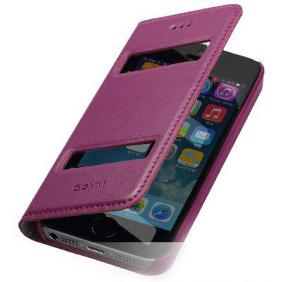 GGMM Support Design PC and Genuine Leather Material Cover Case for iPhone 5 5S