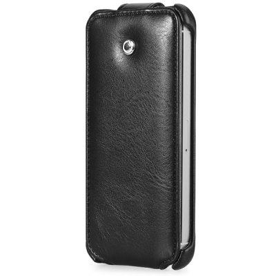 GGMM Vertical Top Flip Cover Case of PU Leather and PC Material for iPhone 5 5S