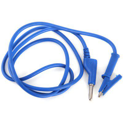 Buy BLUE DIY Banana Socket to Alligator Clip Electrical Test Probe Cable for $3.84 in GearBest store