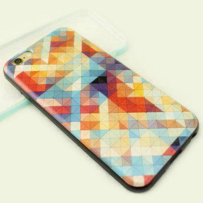 Stylish Colorful Grid Pattern TPU and PU Material Back Cover Case for iPhone 6 Plus  -  5.5 inch