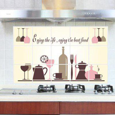 Tableware Pattern Home Appliances Decoration Anti  -  oil Wall Sticker
