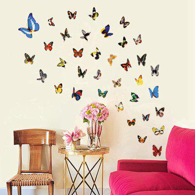 Colorful Butterfly Pattern Home Appliances Decoration Wall Sticker