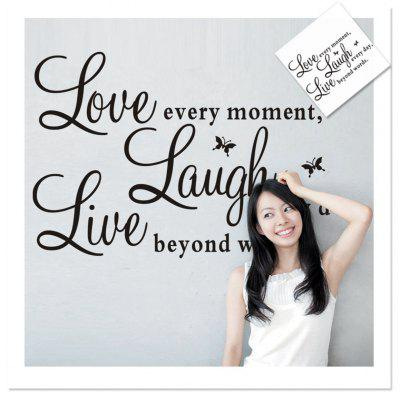 Live Love Laugh English Quotes Pattern Home Appliances Decoration Wall Sticker