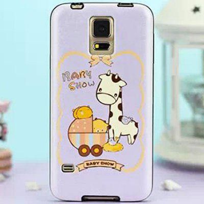 Stylish Cartoon Pattern TPU and PU Material Back Cover Case for Samsung Galaxy S5 i9600 SM - G900