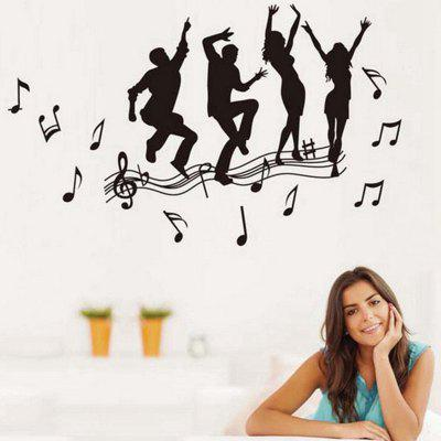 Crazy for Music Pattern Home Appliances Decoration Wall Sticker