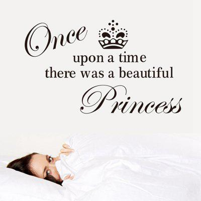 Princess English Words Pattern Home Appliances Decoration Wall Sticker