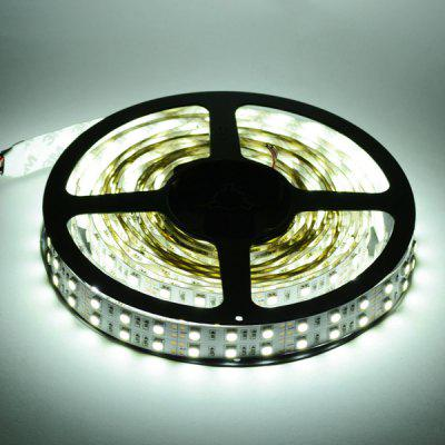 HML 5M 144W SMD 5050 600 LEDs Dual Row Strip Ribbon Light + Controller