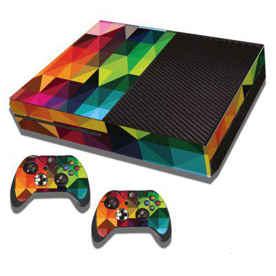 Colorful Rhombus Style Game Console Gamepad Controller Stickers Skin for Xbox  One ...