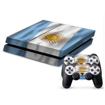 Argentine Flag Style Game Console Gamepad Controller Stickers Skin for PS4