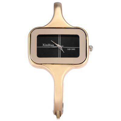 Xinhua 340 Female Quartz Watch Bracelet with Steel Strap Rectangle Dial