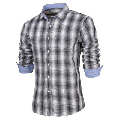 Plaid Print Long Sleeves Men\'s Plaid Shirts
