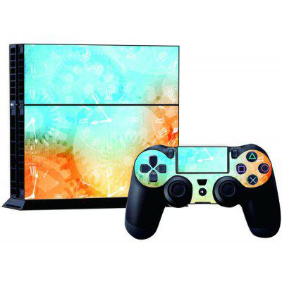 Clock Style Game Console Gamepad Controller Stickers Skin for PS4