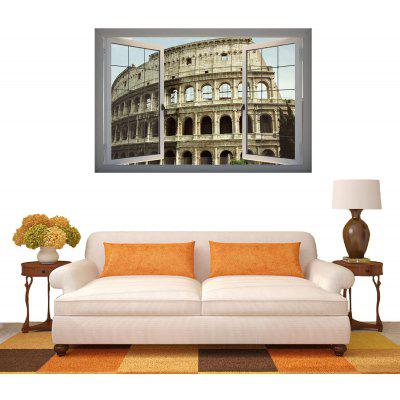 Roman Arena Pattern Home Appliances Decoration 3D Wall Sticker