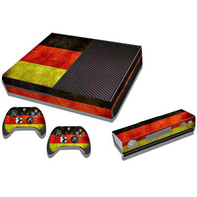 Protective Game Player and Controller Skin Sticker with Germany Flag Pattern for Xbox One