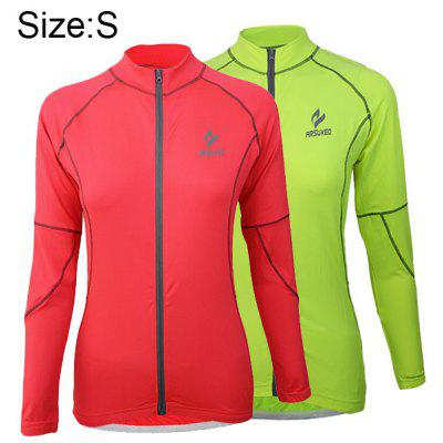 Arsuxeo 60017 Breathable Female Cycling Jersey Long Sleeve Bike Bicycle Outdoor Sports Running Clothes