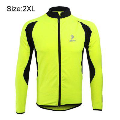 Arsuxeo 130022 Breathable Men Cycling Jersey Long Sleeve Bike Bicycle Outdoor Sports Running Clothes