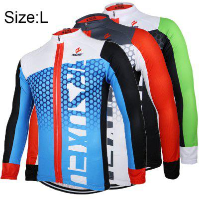 Arsuxeo ZLJ21Q Breathable Men Cycling Jersey Long Sleeve Bike Bicycle Outdoor Sports Running Clothes
