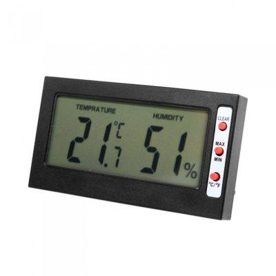 LCD Display Memory Function ABS Material Thermometer Hygrometer