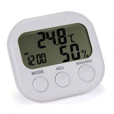 LCD Display Thermometer Hygrometer Alarm Clock Temperature Humidity Meter
