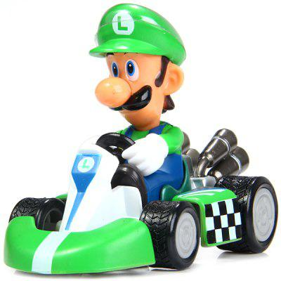 Super Mario Brothers Luigi Pull Back Car Toy