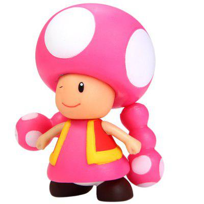 Mini Super Mario Bros Action Figure Mushroom Girl Doll Toy
