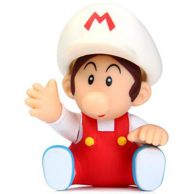 9cm Mini Super Mario Bros Action Figure White Cap Baby Doll Toy