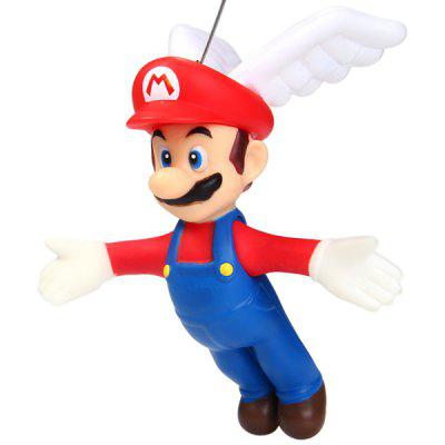 12cm Mini Super Mario Brothers Action Figure Mario with Wings and Sucker Doll Toy