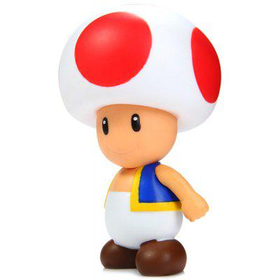 Buy AS THE PICTURE 10cm Mini Super Mario Brothers Action Figure Mushroom Boy Doll Toy for $4.35 in GearBest store