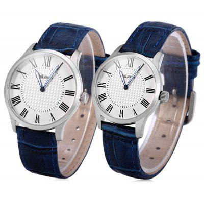 ShiLonG 8048 Couple Japan Quartz Watch with Genuine Leather Band Sapphire Mirror