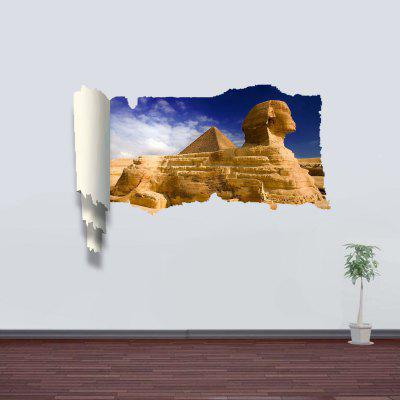 Sphinx Pattern Home Appliances Decoration 3D Wall Sticker