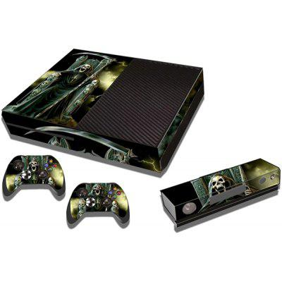 Game Console Gamepad Full Body Sticker with 3D Cool Skeleton for Xbox One